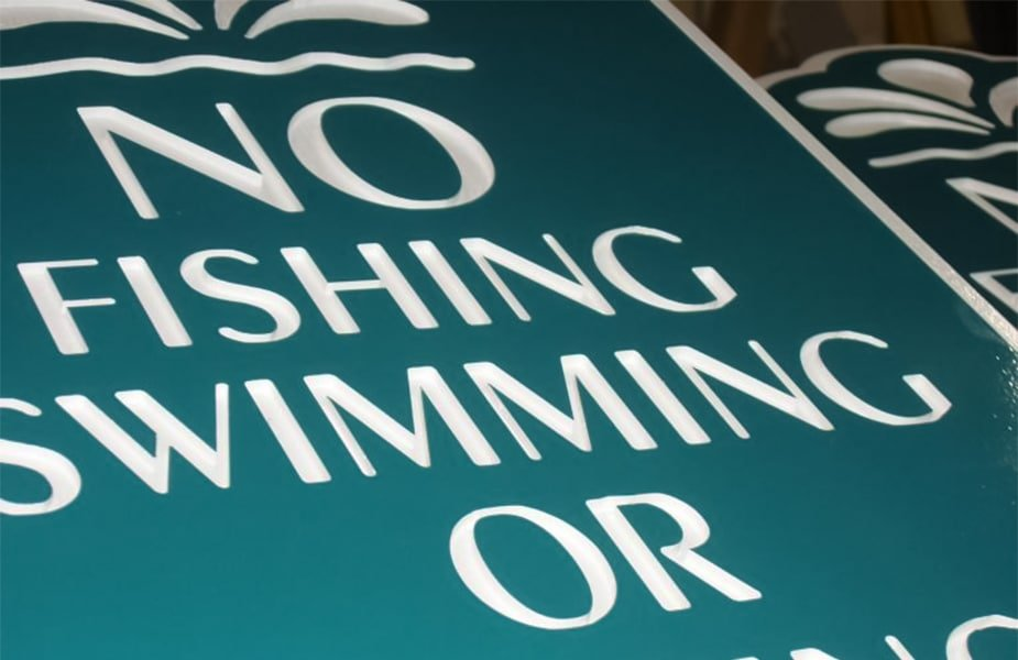 Sandblasted & Routed Signs