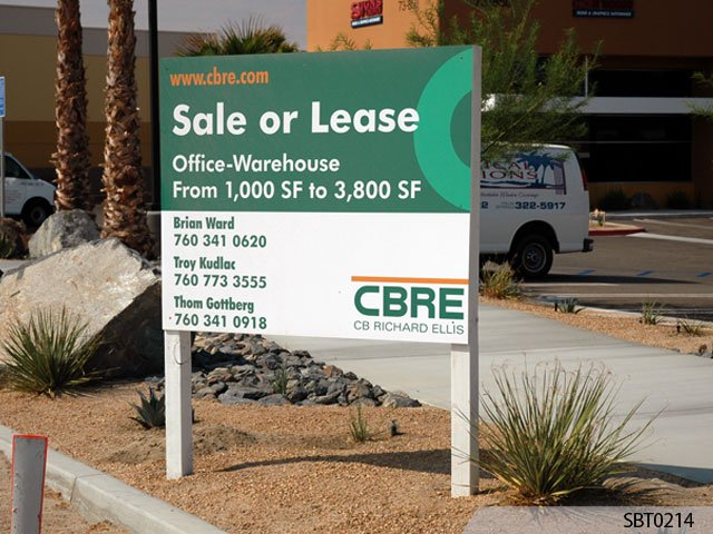 Real Estate Signage - (For sale, For lease).